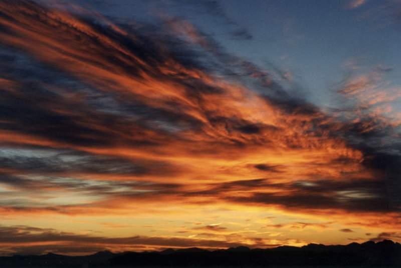 Sunrise on cirrus over mountains  Jul 39;03