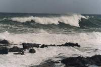 waves off Sea Point