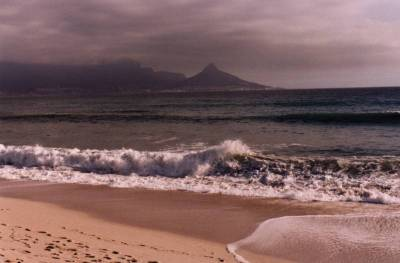 Milnerton Beach looking towards Table Mountain